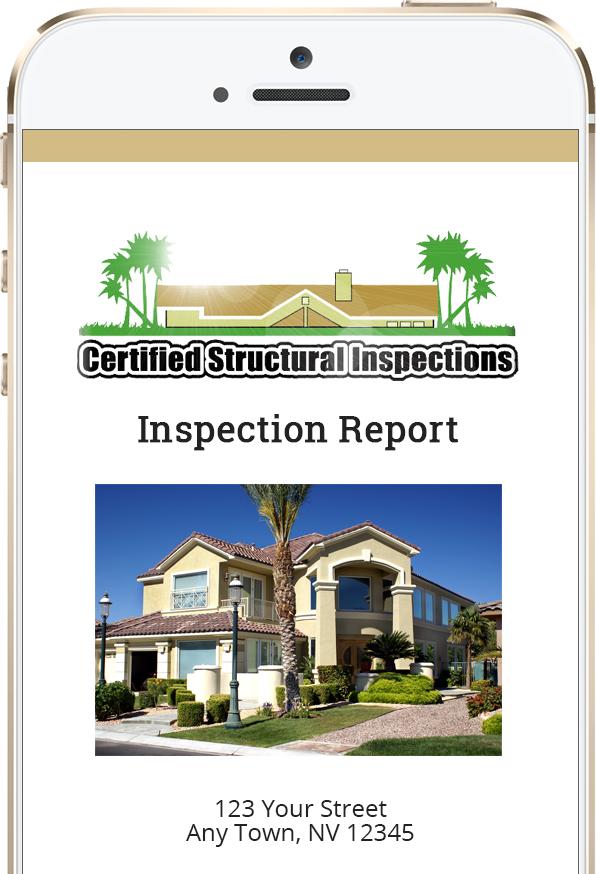 digital inspection report phone